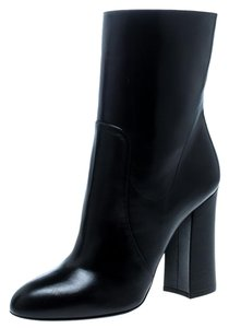 Dolce&Gabbana Leather Ankle Black Boots
