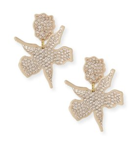 Lele Sadoughi NEW Pavé Crystal Lily Earrings in Blush
