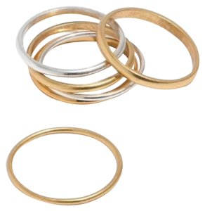 Madewell madewell Delicate stacking ring set size 6
