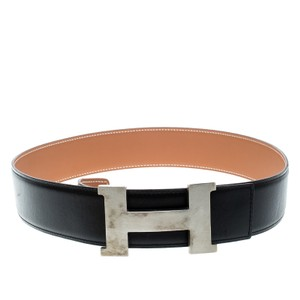 Hermès Black/Brown Box Calf Leather Reversible Constance Buckle Belt 7