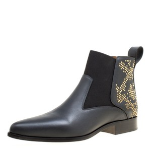 Chloé Leather Studded Elastic Band Black Boots