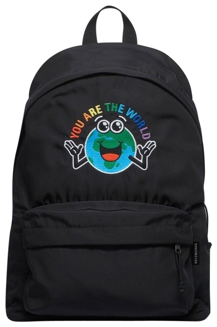 Item - You Are The World Explorer Black/Multi Backpack
