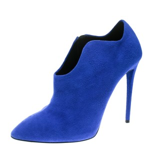 Giuseppe Zanotti Suede Ankle Leather Blue Boots