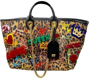 Dolce&Gabbana Tote in leopard and multi colored