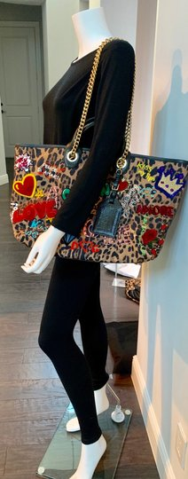Dolce&Gabbana Tote in leopard and multi colored Image 7