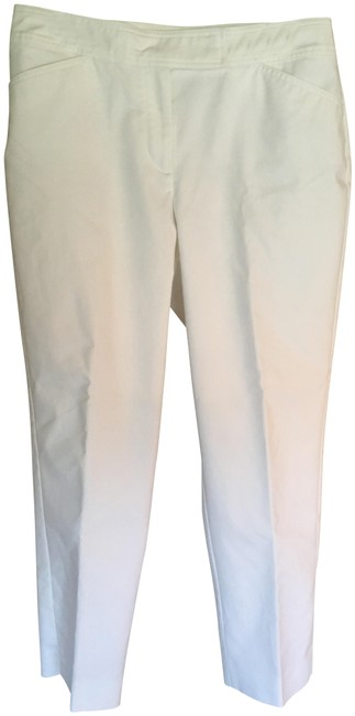 Item - White Curvy Straight Leg Pants Size 12 (L, 32, 33)