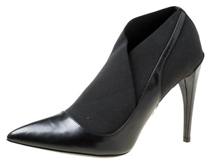 Dior Leather Pointed Toe Black Boots