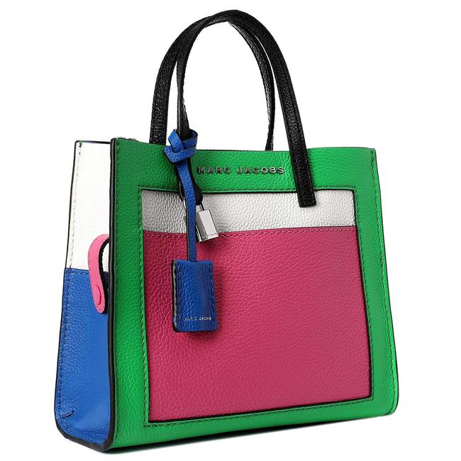 Marc Jacobs Mini Grind Jade Multi Pebbled Leather Tote Marc Jacobs Mini Grind Jade Multi Pebbled Leather Tote Image 1