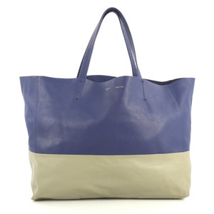 Céline Horizontal Tote in blue and gray