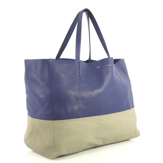 Céline Horizontal Tote in blue and gray Image 1