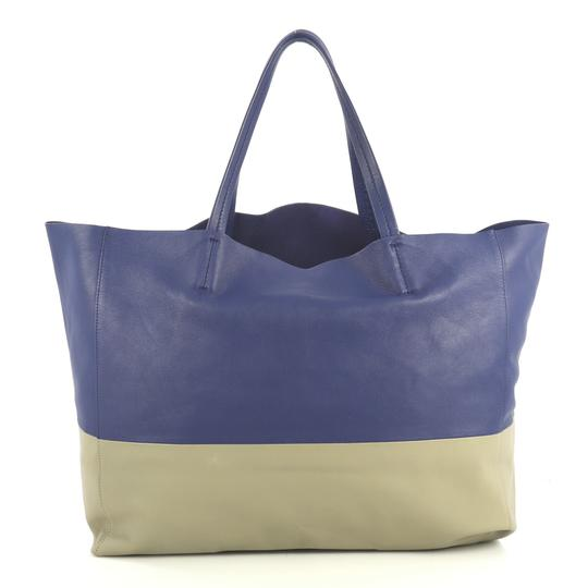 Céline Horizontal Tote in blue and gray Image 2