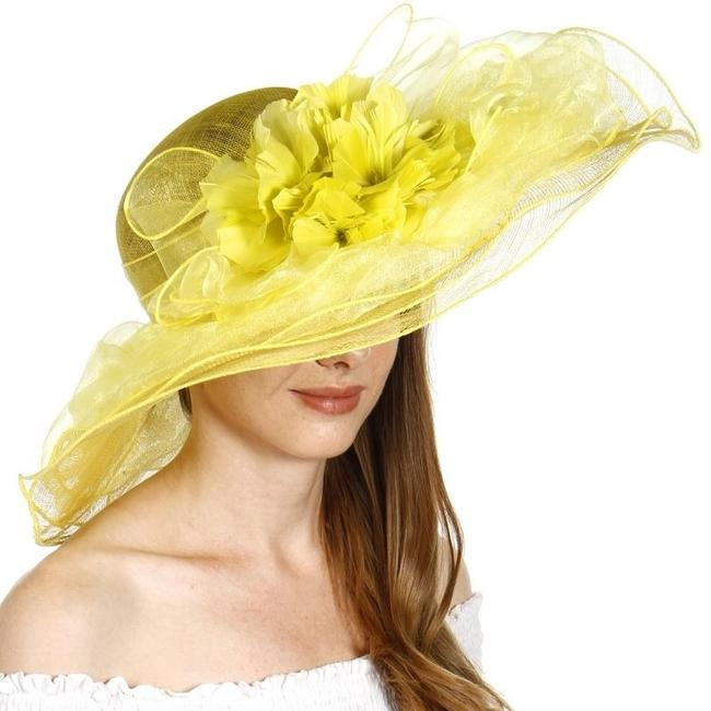 Item - Lime New Organza Layer Soft Sinamay Dress Hat