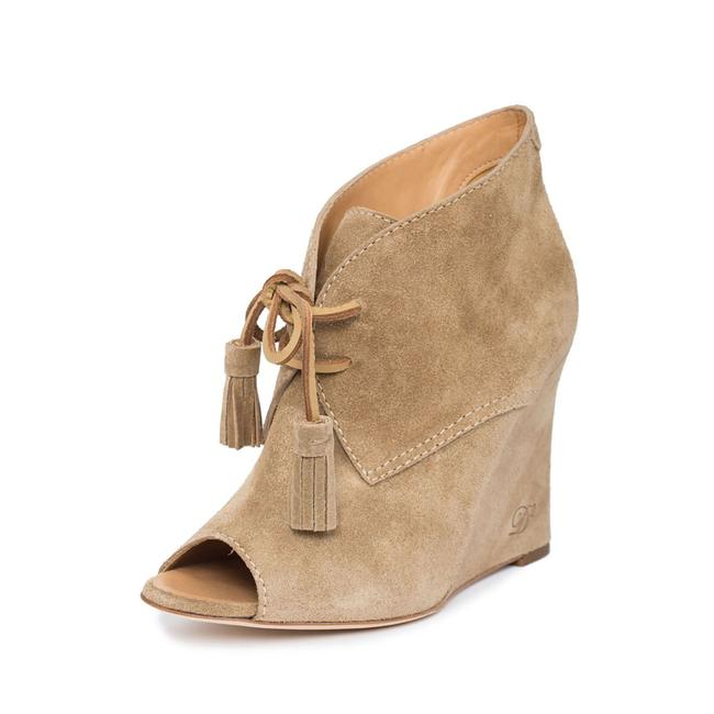Item - Nude Beige New Dsq2 Suede Leather Peep-toe Wedge Heel Lace-up Boots/Booties Size US 10 Regular (M, B)