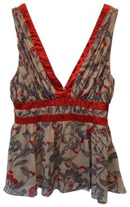 Arden B. Top Grey and Red