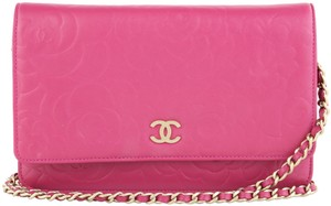 Chanel Camellia Woc Pink Woc Pink Camellia 12p Woc Pink 12p Cross Body Bag