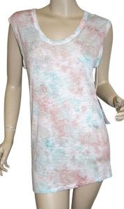 Young Fabulous & Broke Womens Blue White Top Multi-Color