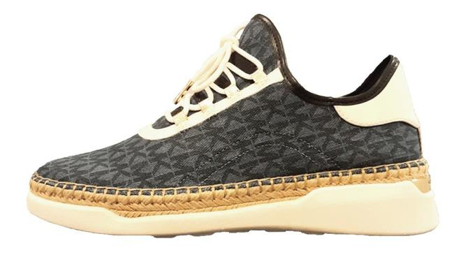 Item - Denim/White/Gold Finch Lace Up Printed Sneakers Size US 9.5 Regular (M, B)