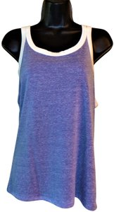Tresics Stretchy Summer Top Blue with White Trim
