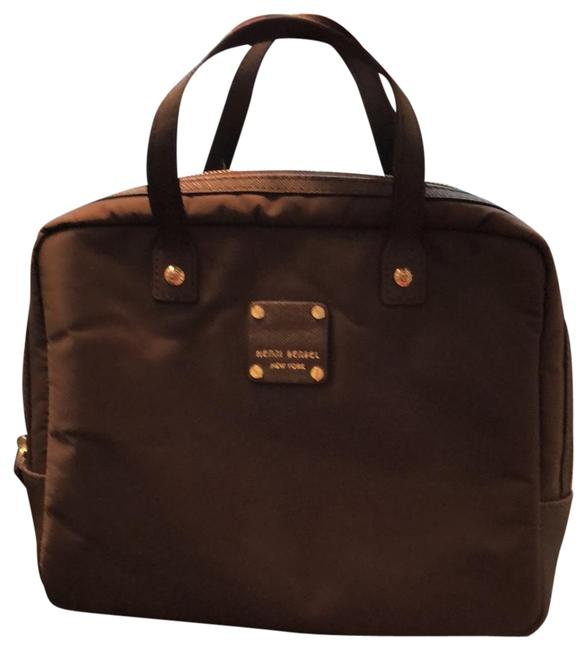 Item - Tech/Jewelry Organizer Brown Vinyl and Leather Satchel