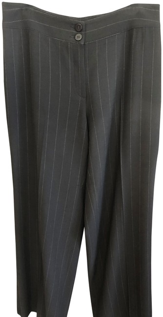 Item - Black Le Collezioni Leg Pin Striped Pants Size 10 (M, 31)