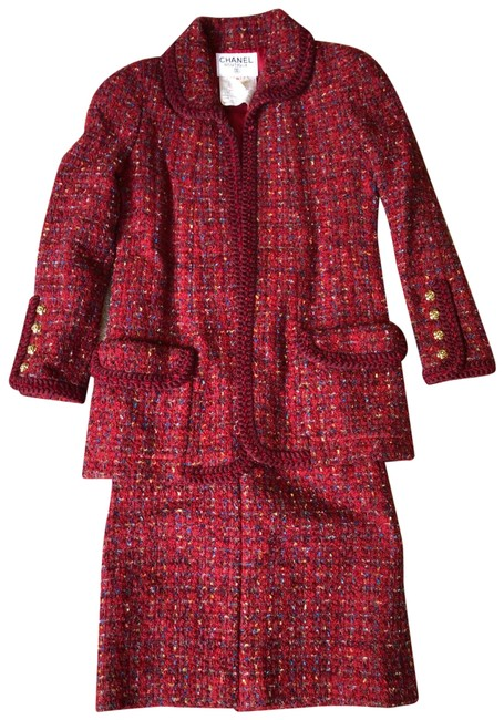 Item - Red Vintage Skirt Suit Size 2 (XS)