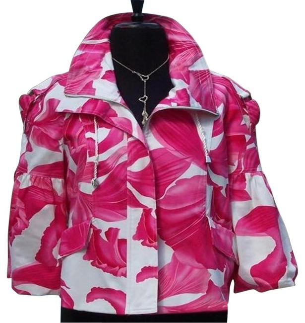 Item - Pink White L Luxe Lined Event Top New O Drawstring 12/14 Jacket Size 12 (L)