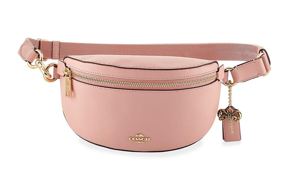 e87eeee9 Coach Limited Edition X Selena Gomez Fanny Pack Pink Leather Messenger Bag