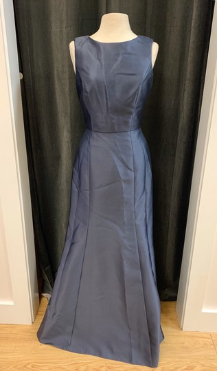 Onyx Sateen Twill Bb106 Formal Bridesmaid/Mob Dress Size 10 (M) Image 2