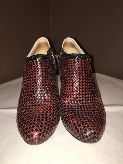 Prada Woven Leather BROWN AND BLACK Boots Image 1