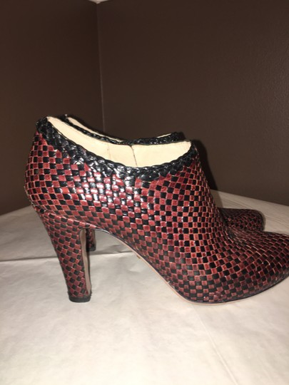 Prada Woven Leather BROWN AND BLACK Boots Image 2