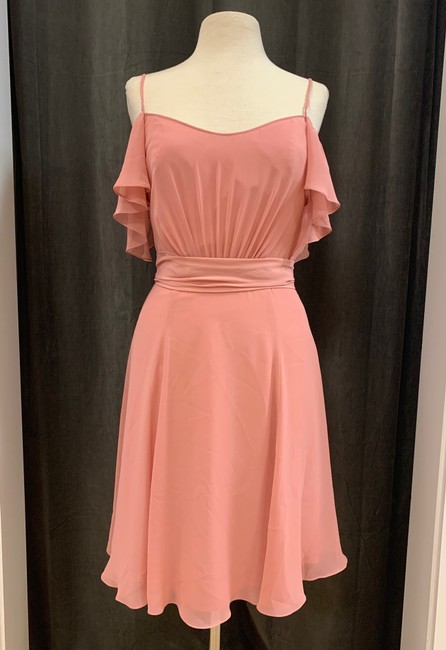 Item - Rose Flat Chiffon Carla Gb003f Casual Bridesmaid/Mob Dress Size 8 (M)