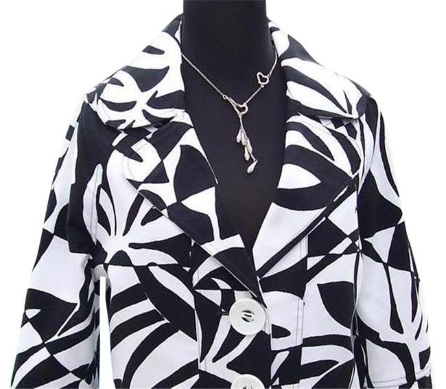 Item - Black White Luxe Lined Event Top New Jackie-o Classic 4/6 S Jacket Size 6 (S)