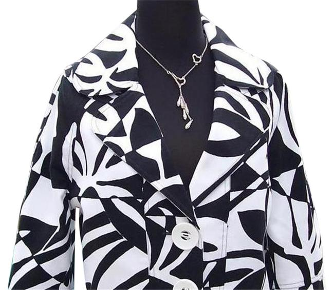 Item - Black White Luxe Lined Event Top New Jackie-o Classic 8/10 M Jacket Size 10 (M)