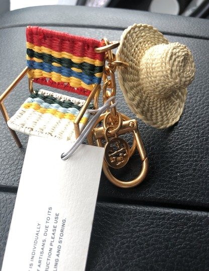 Tory Burch Beach Chair and Hat Key Fob Keychain Image 1