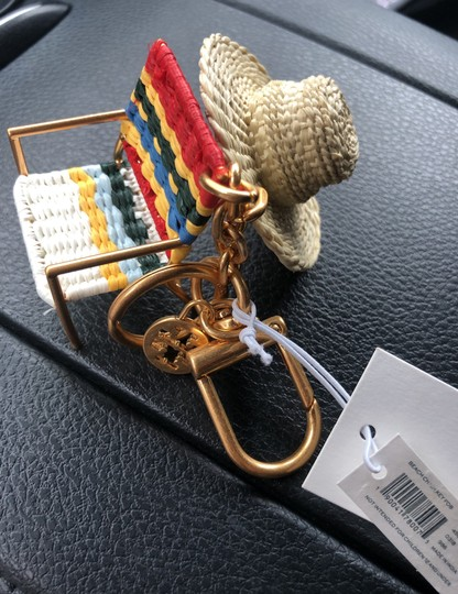 Tory Burch Beach Chair and Hat Key Fob Keychain Image 4