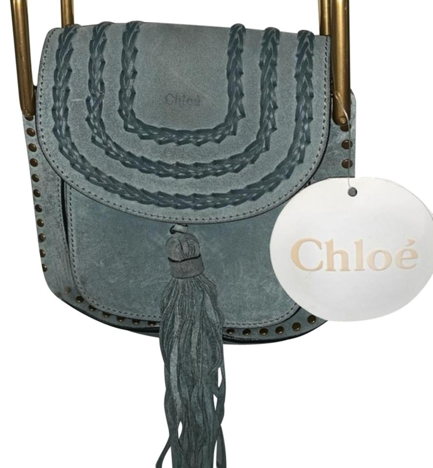 351348b9 Chloé Hudson Mini Cloudy Blue Suede Leather Cross Body Bag 45% off retail
