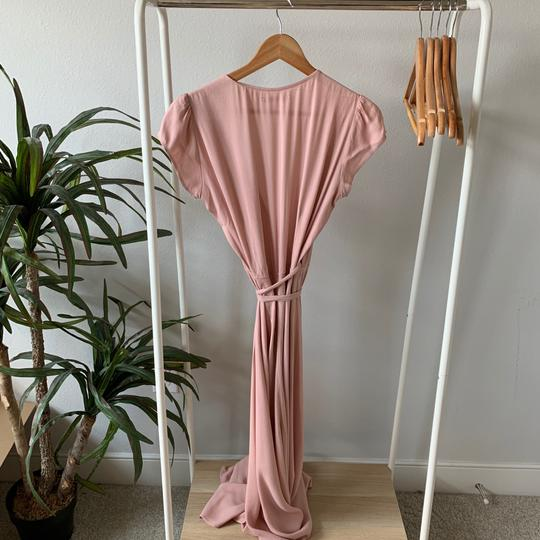 Reformation Blush Pink Viscose/Rayon Chamomile Casual Bridesmaid/Mob Dress Size 8 (M) Image 2