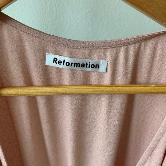 Reformation Blush Pink Viscose/Rayon Chamomile Casual Bridesmaid/Mob Dress Size 8 (M) Image 3