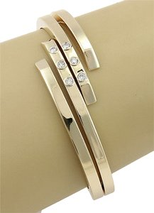 Vento Italy 14k Yellow Gold Diamond Bangle Bracelet