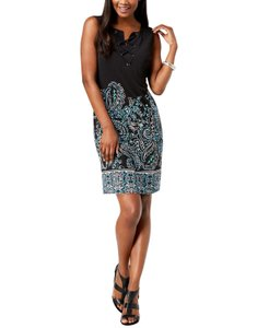 JM Collection short dress Black- multi on Tradesy