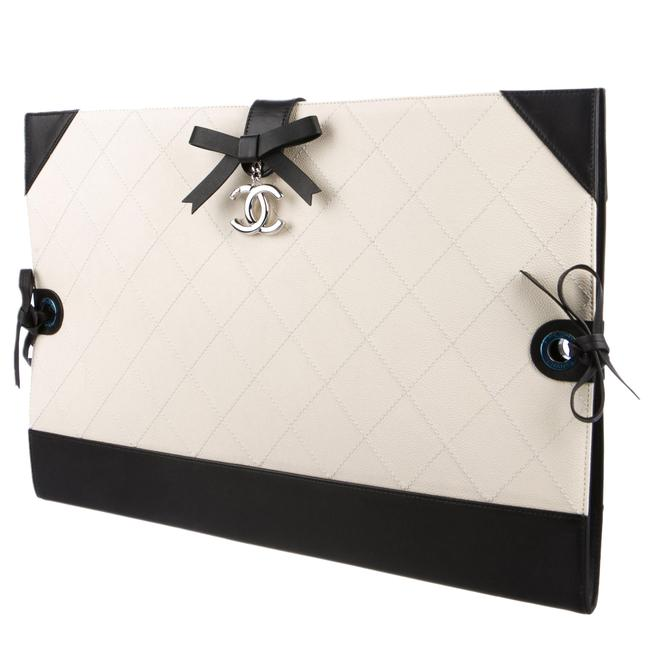 Item - Portfolio Clutch Spring 2014 Rtw Runway Two Professional Black and White Leather Tote
