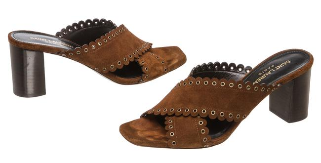 Item - Brown Monogram Loulou 492120 Suede Sandals with Eyelets Mules/Slides Size EU 36.5 (Approx. US 6.5) Regular (M, B)