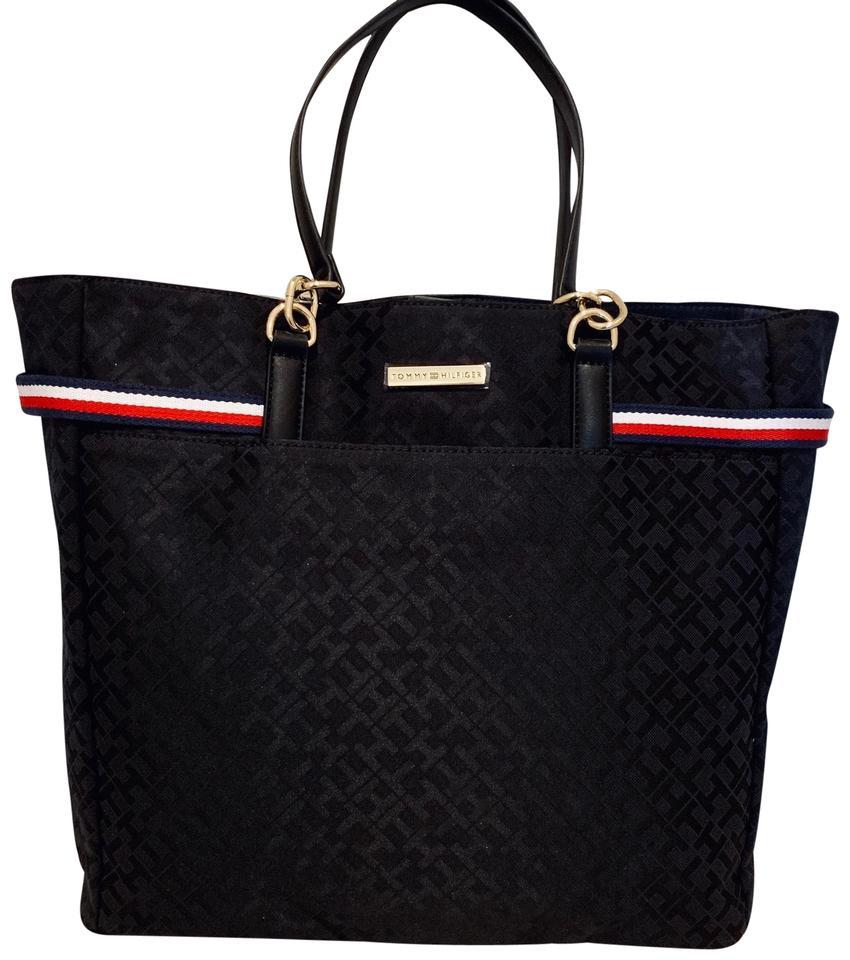 Tommy Hilfiger Women Bag Os Nwt Black Canvas Tote 6 Off Retail
