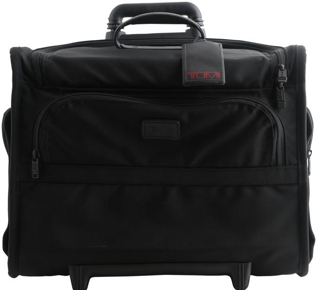 Item - 2wheeled Alpha Compact Briefcase Case Trolley 26124dh Black Nylon Weekend/Travel Bag