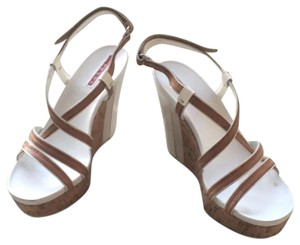 Prada tan and white Sandals
