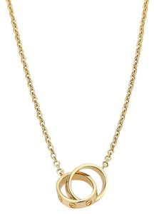 Cartier Cartier Love necklace 18K Yellow Gold w/ Mini Double Ring Pendant