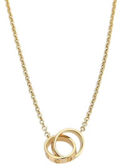 Preload https://img-static.tradesy.com/item/25737334/cartier-gold-w-18k-yellow-w-mini-double-ring-pendant-necklace-0-2-540-540.jpg