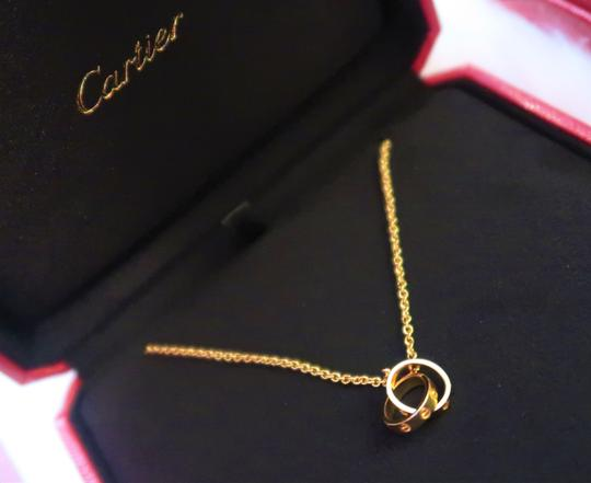 Cartier Cartier Love necklace 18K Yellow Gold w/ Mini Double Ring Pendant Image 4