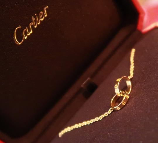 Cartier Cartier Love necklace 18K Yellow Gold w/ Mini Double Ring Pendant Image 6