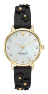 Kate Spade Kate Spade New York Women's mother-of-pearl dial black leather KSW1514